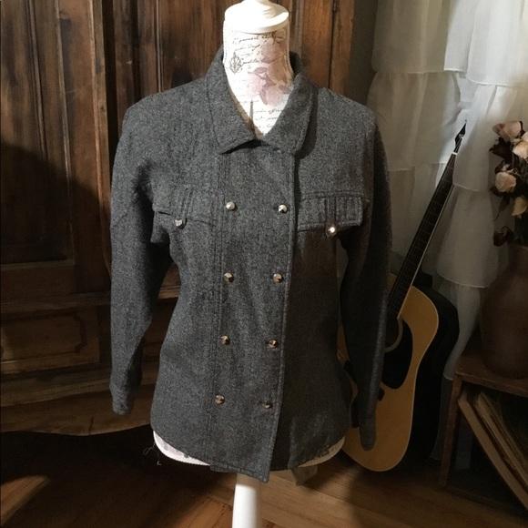 Jackets & Blazers - Vintage Military Style Black Blazer